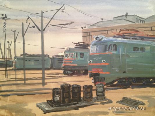Piskareva Kazansky railway station. Moscow.