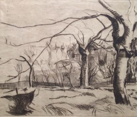 Шмидт Эрнст Пауль. Пейзаж с деревьями.