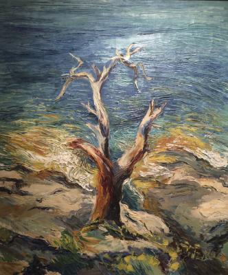 Шмидт Эрнст Пауль. Одинокое дерево.