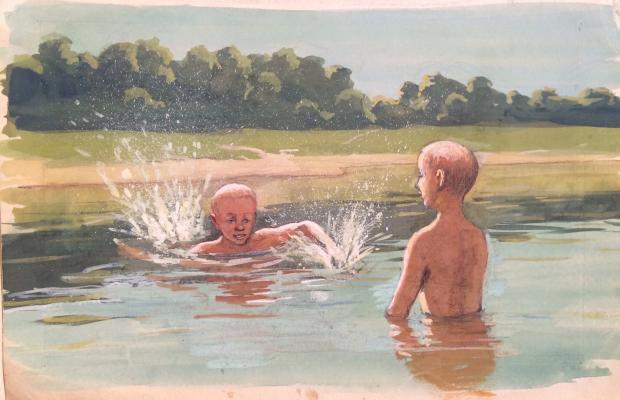 """Shlyakhtin S. V. """"Bathing boys."""""""