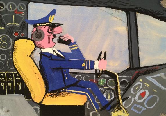 Лернер Натан Озиасович. Рассерженный пилот самолета.