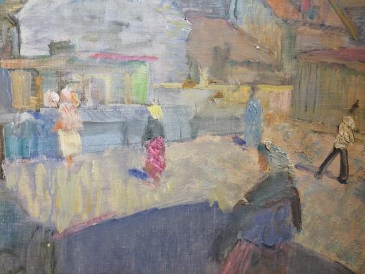 """Korovin Y. """"Bazaar in Klaipeda."""""""