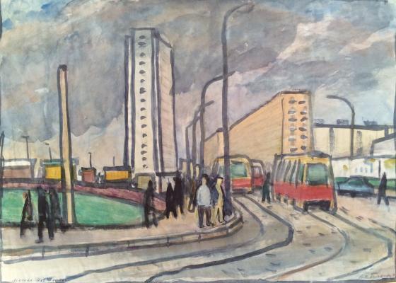"Korovina ""Trolleybus route."""