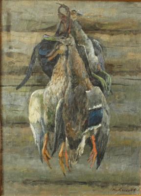 "Sysoyev N. A. ""Hunting still life."""