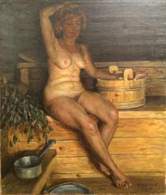 "Sysoyev N. A. ""In the bath."""