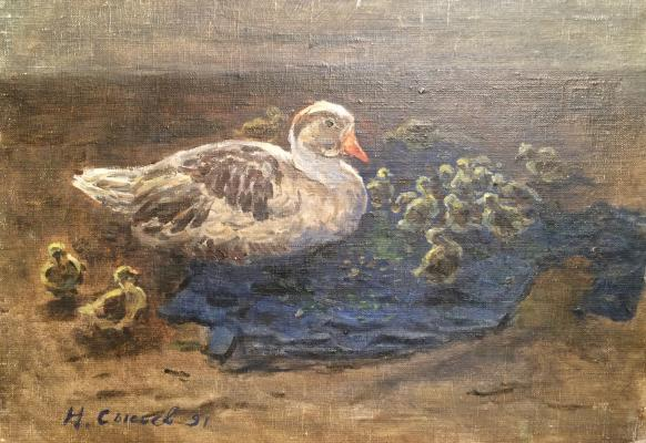 "Sysoyev ""Duck with ducklings"""