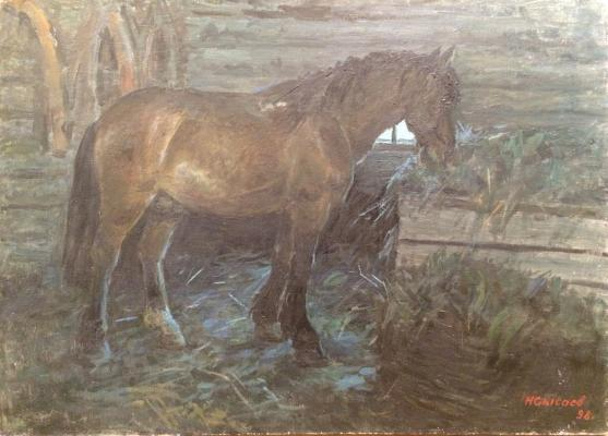 """Sysoyev N. A. """"Horse in the stable"""""""