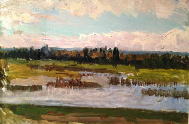 "Shurpin F. S. ""Landscape with the river."""