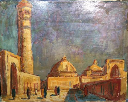 "Dubrovin D. N. ""Ancient Bukhara. Sun of Kalyan minaret."""