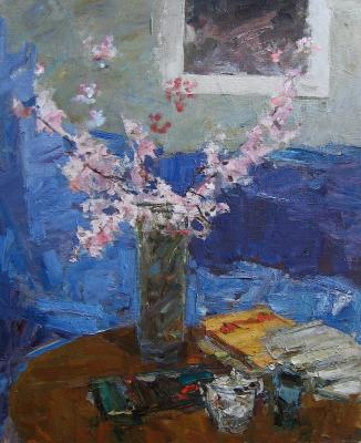 "Zakharov F. Z. ""Still life with flowering branches"""