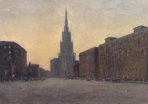 Озеров Георгий Федорович. Москва. Вечереет