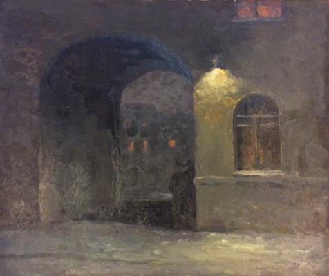 Озеров Георгий Федорович. Ночь, улица, фонарь...