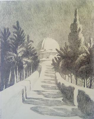 "Bachurin Y. V. ""Crimean Observatory. The avenue."""