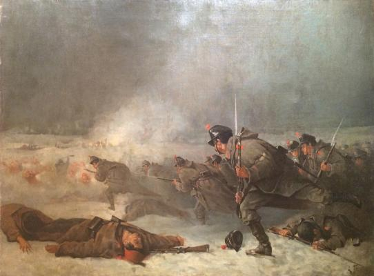 "Popov A. N. ""Russian infantry attack. Episode from the Russian-Turkish war of 1877-1878."""