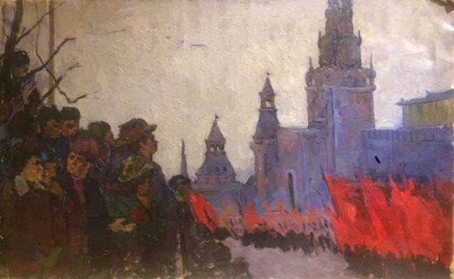 "Sretensky G. ""Demonstration on Red Square."""