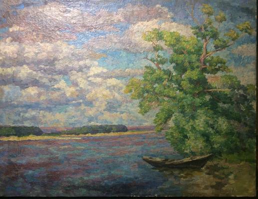 "Sretensky G. ""The shore of the Volga."""
