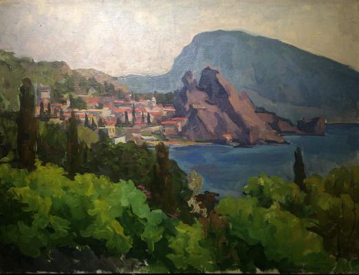"""Sretensky G. """"Crimea. Bear mountain."""""""
