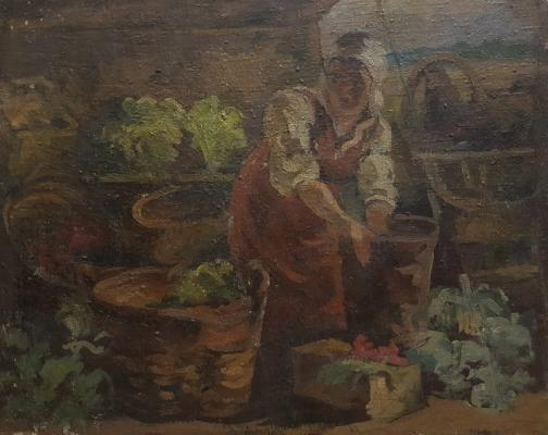 Сретенский Григорий Александрович. Уборка овощей