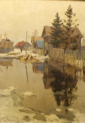 Семенюк Юрий Иванович. Весна в деревне.