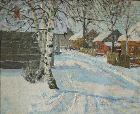 Маевский Дмитрий Иванович. Деревня Подол зимой.
