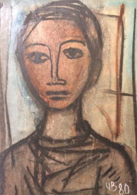 """Voroshilov I. V. """"Portrait of a girl."""""""