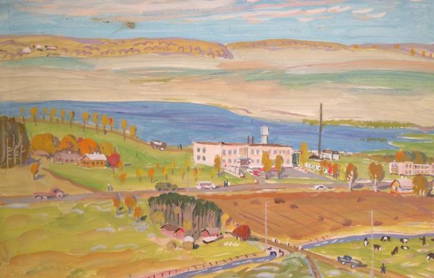 """Kuznetsov """"Panorama Village Sochevlyany in Belarus"""""""