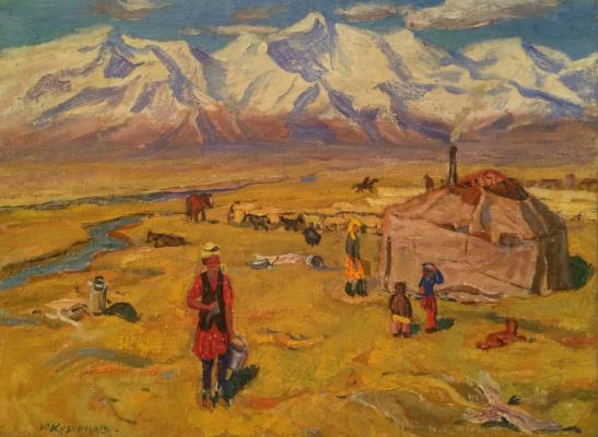 "Kuznetsov Y. M. ""In the foothills of the Pamir."""