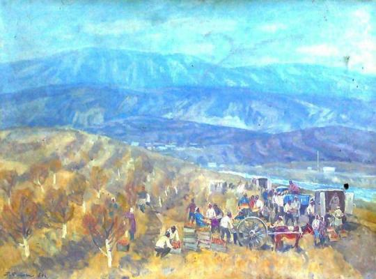 "Blok P. ""Harvest in Central Asia."""