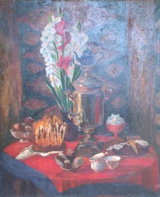 "Kulagina M. E. ""Samovar with cakes."""