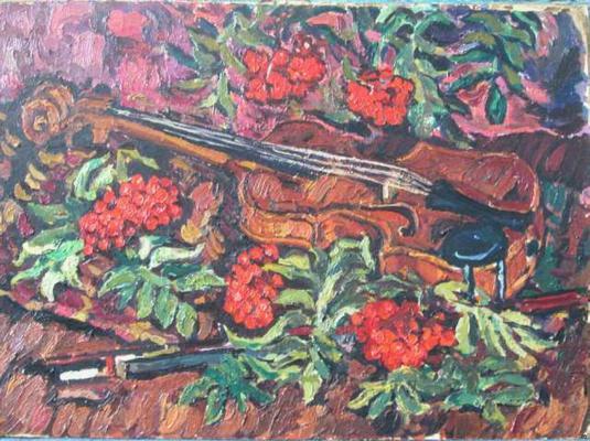 Якубов Радий Рауфович. Натюрморт со скрипкой.