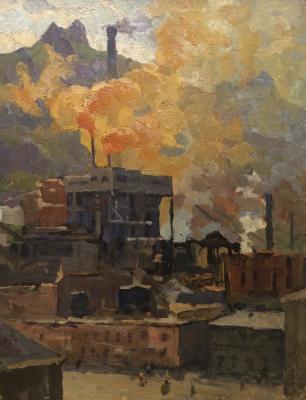 """Tsarev V. I. """"Industrial landscape."""""""