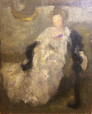 """Goldinger Y. V. """"Portrait of Duchess Maria Shakhovskoy."""""""