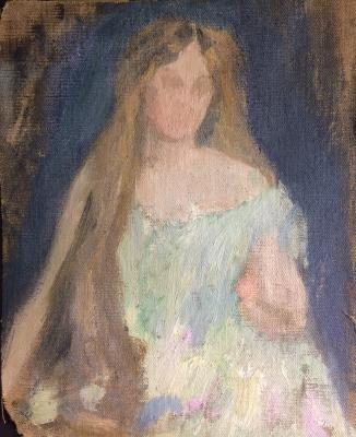 Гольдингер Екатерина Васильевна. Девушка с распущенными волосами.