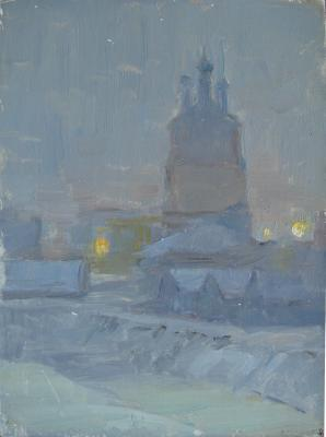 "Kuznetsov-Volzhsky M. A. ""Winter evening ."""