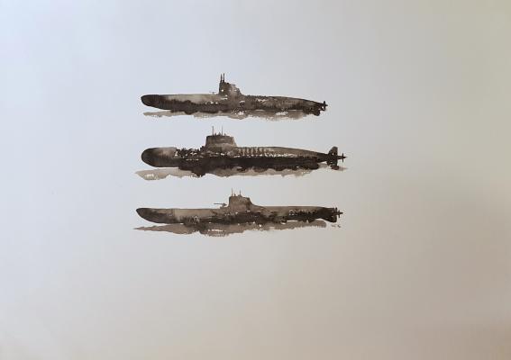 Батынков Константин Алекcандрович. Три подводных лодки