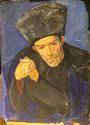 "Barvenko V. P. ""Akhmetov Ibrahim, a teacher from the village of Kubachi."""