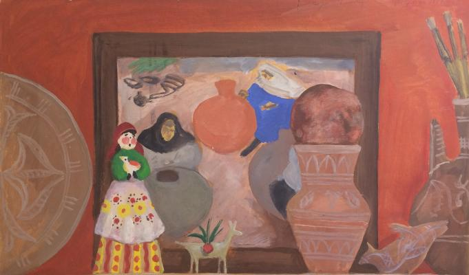 """Barvenko V. P. """"Still life with a picture of """"Dagestan masters"""""""""""