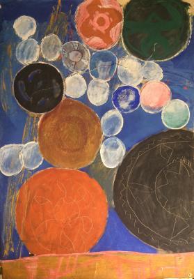 """Barvenko V. P. """"Composition with multicolored tangles."""""""