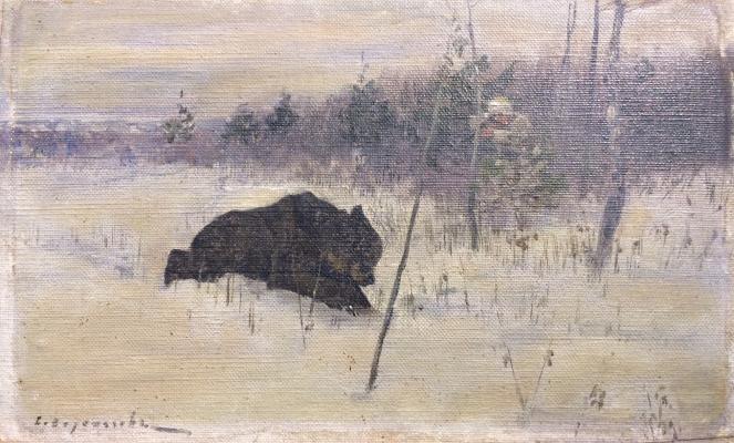 """Voroshilov S. S. """"Bear hunting."""""""