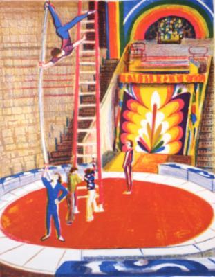 """Duvidov V. A. """"Acrobats at the circus."""""""