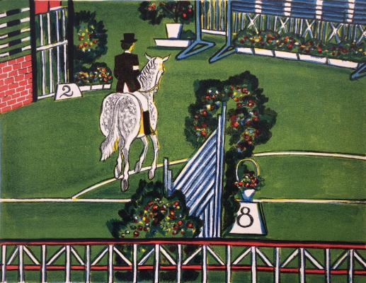 "Duvidov V. A. ""22th Olympic Games. Horseback Riding."""