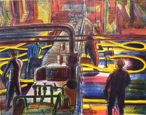 "Duvidov V. A. ""The steel-rolling shop."""