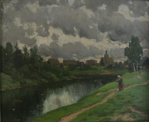 """Makovsky A. V. """"By the river."""""""