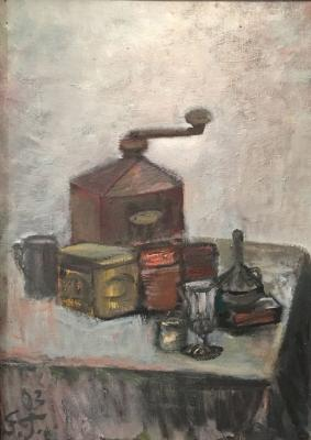 "Ginzburg Y. M. ""Still life with a coffee grinder."""