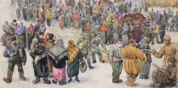 "Khryakov A. F. ""Crowd."""