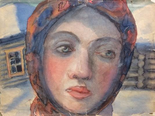 "Khryakov A. F. ""Urals. Girl."""
