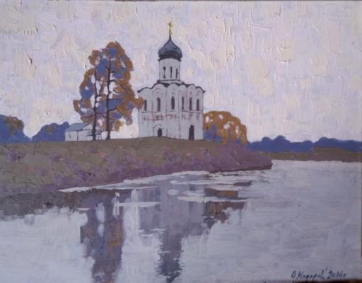 Модоров Олег Николаевич. Покров на Нерли осенью