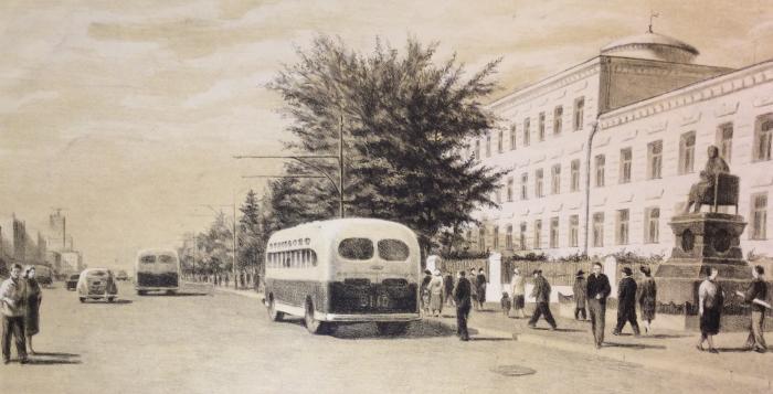 """Avdeyev Y. S. """"Bus stop."""""""