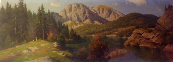 "Shcherbakov B. V. ""Lake Riza. Mountain landscape."""