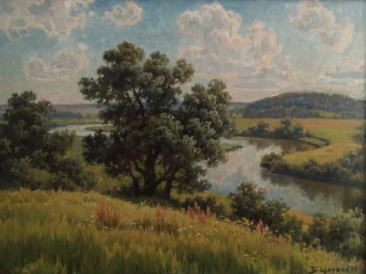 "Shcherbakov B. V. ""The July summer. Moscow."""